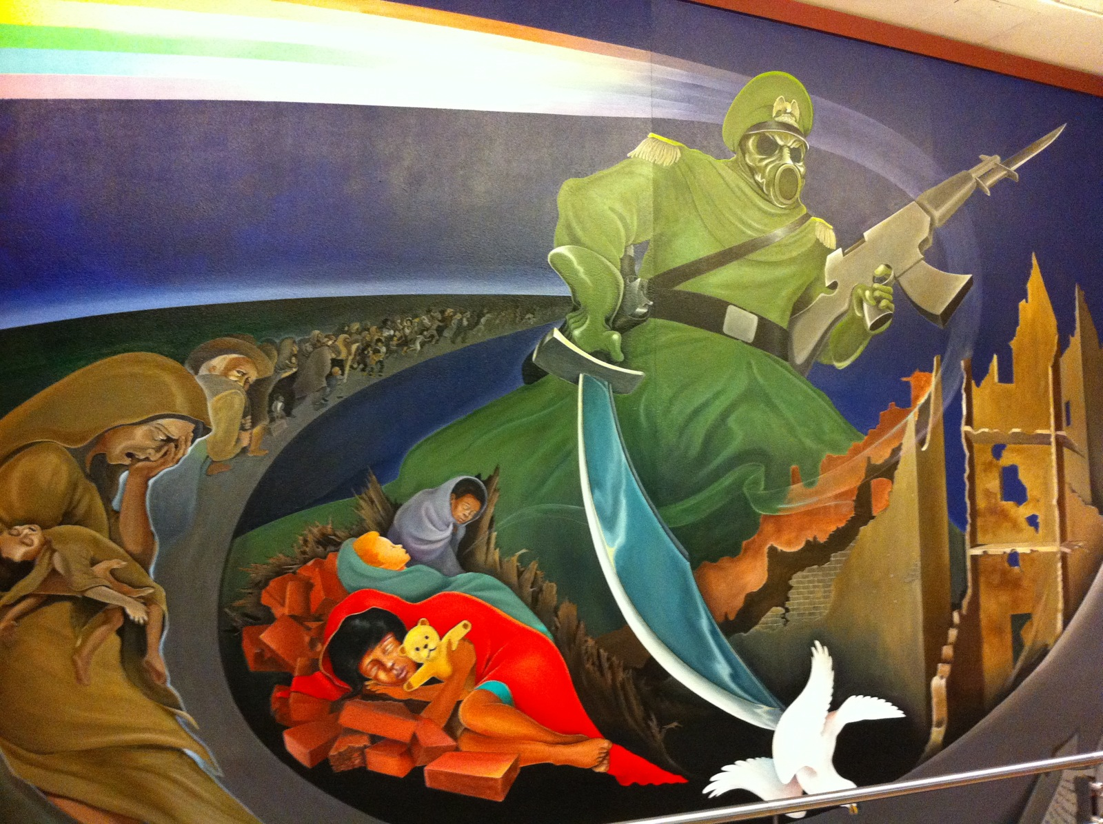 The freaky murals at denver international airport boing for Denver mural airport