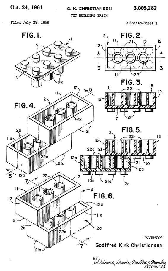 Expired patent of the day: Lego / Boing Boing