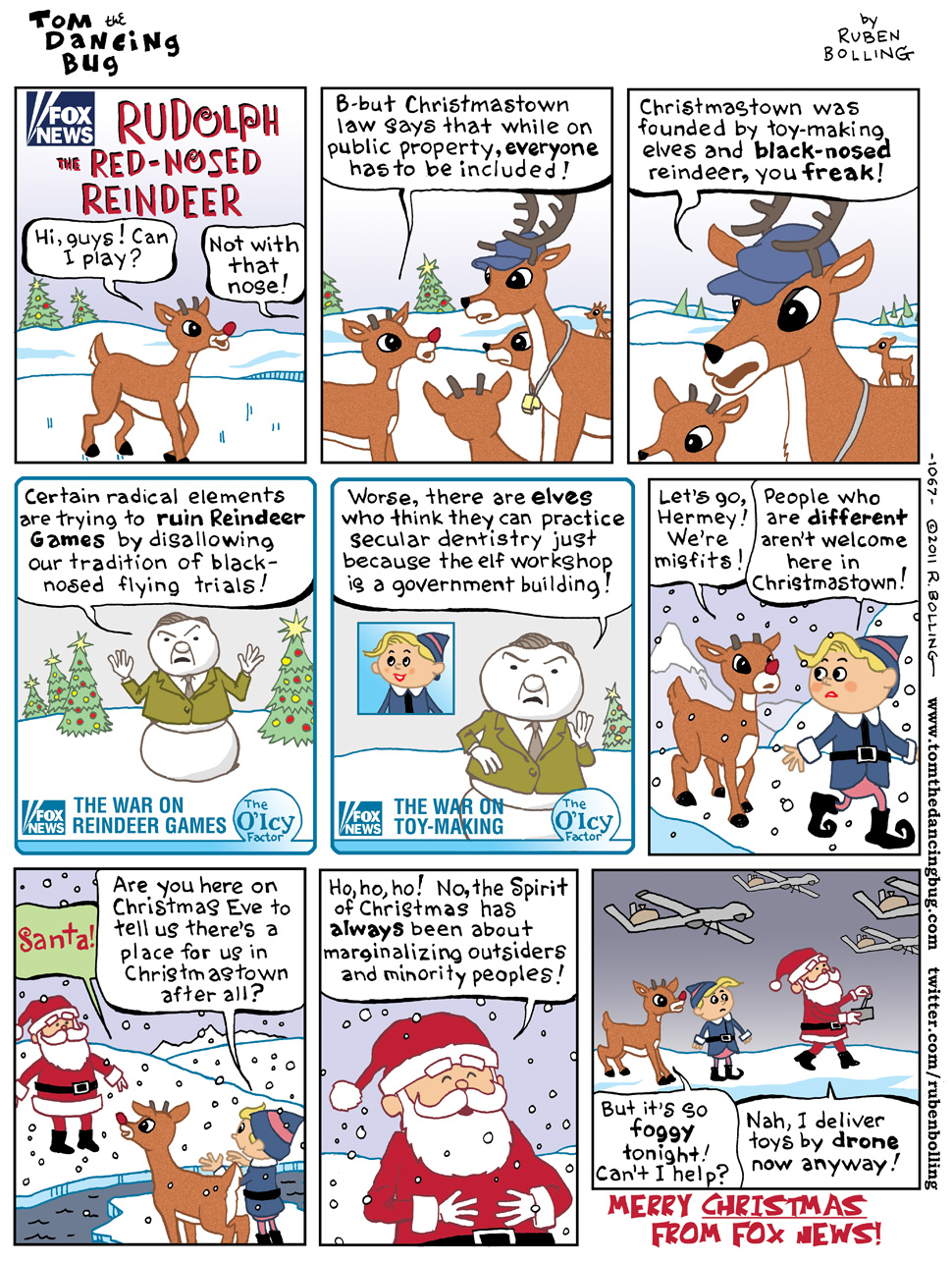 TOM THE DANCING BUG: Fox News on Rudolph the Red-Nosed Reindeer and ...