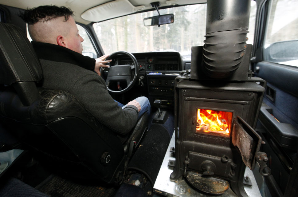Extreme DIY Car Mods Volvo With A Wood burning Stove For