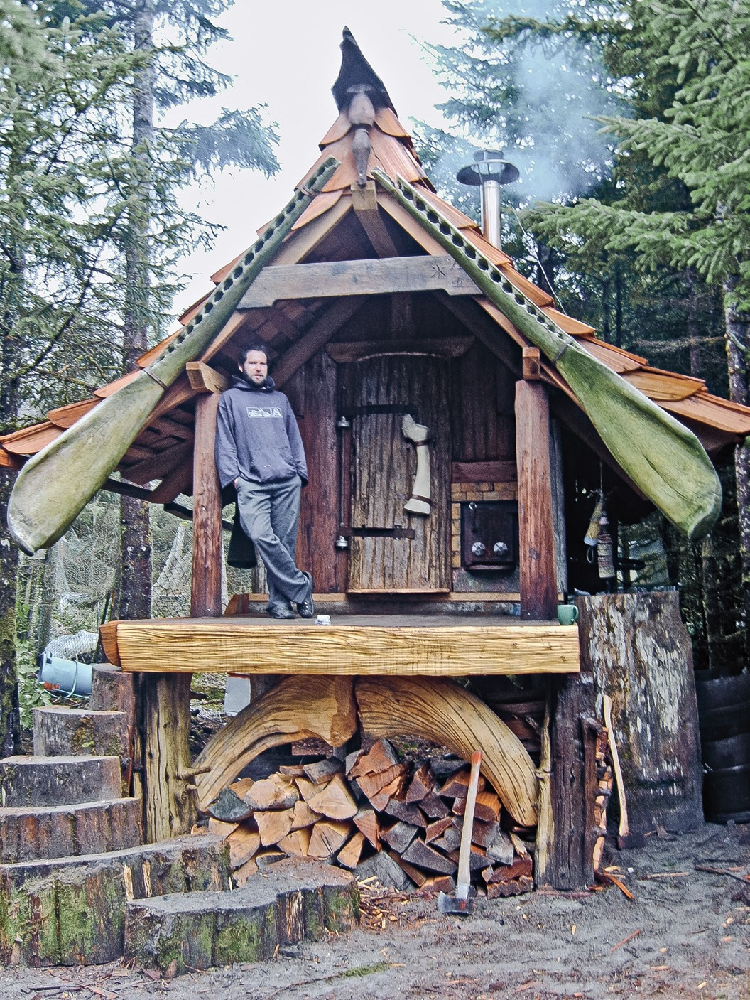 Th 133 image for Building a small cabin in the woods