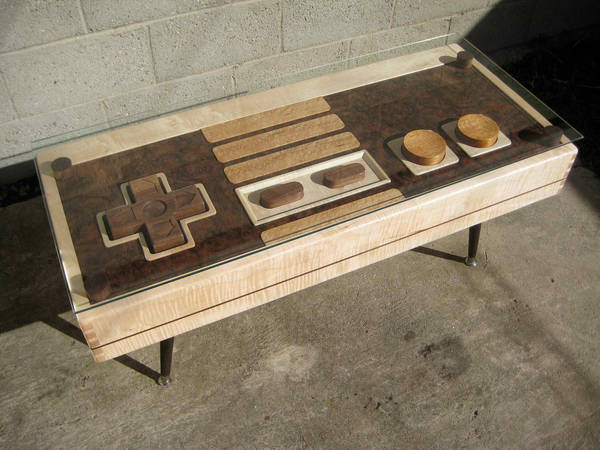 Handmade Wooden Coffee Table Resembles Giant NES Controller, Functions As  Same / Boing Boing