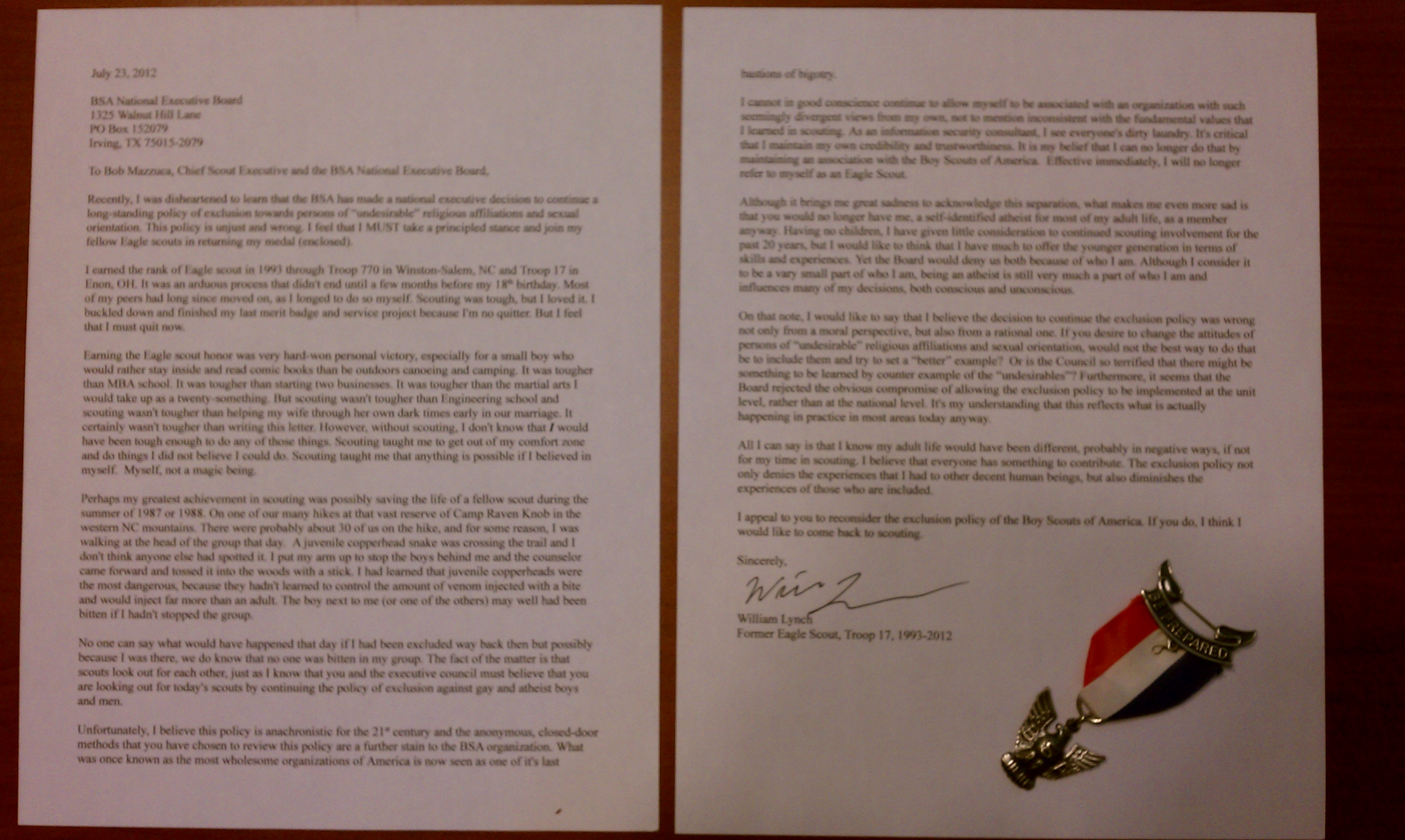 Eagle Scout Letter Of Recommendation Example From Teacher