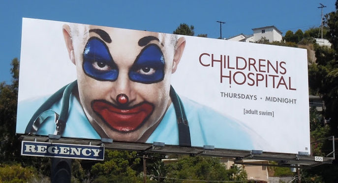 Children's Hospital upset by creepy clown ads for Rob ...
