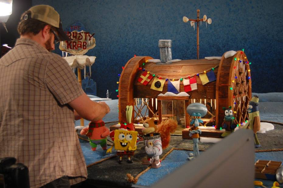 The Making Of Quot It S A Spongebob Christmas Quot Stop Motion