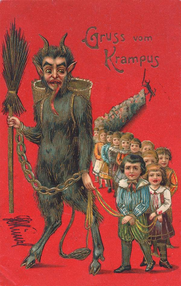 Really.  Krampus.  Look him up!