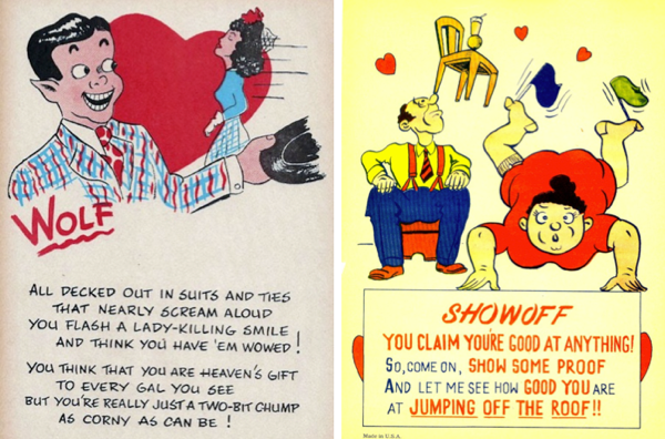 Vintage vinegar valentines mass produced insult cards boing boing