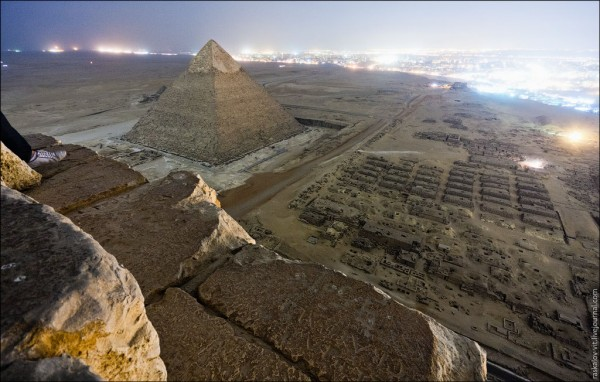 Photos from on top of the Great Pyramid