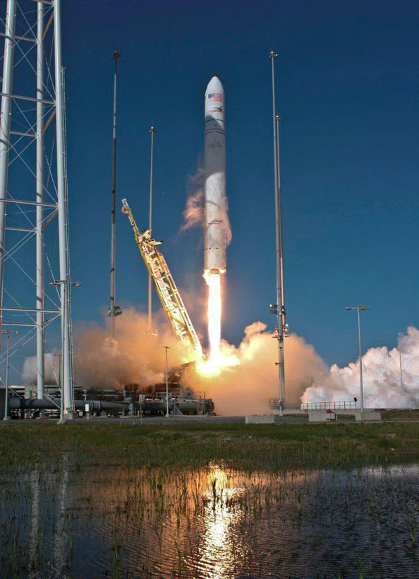 New privately-owned Antares rocket blasts off from Virginia, to space