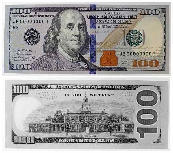 New US$100 bill in circulation 10/8 / Boing Boing 100 Dollar Bill 2013 Back