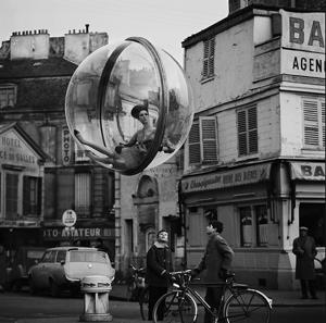 Sokolsky's surreal girl-in-a-bubble Paris fashion photos, 1963