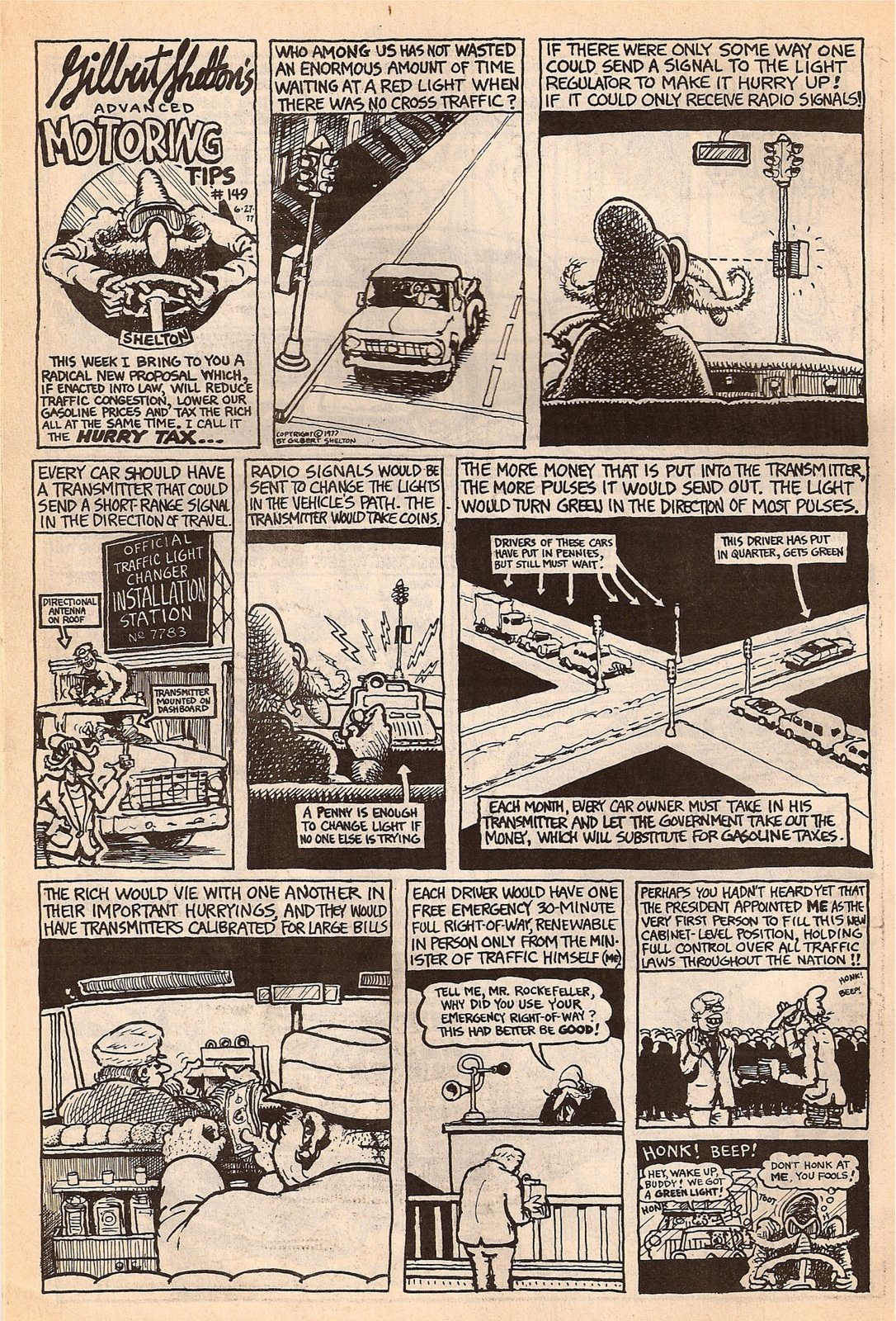 freak brothers creator gilbert shelton s 1977 proposal for a hurry