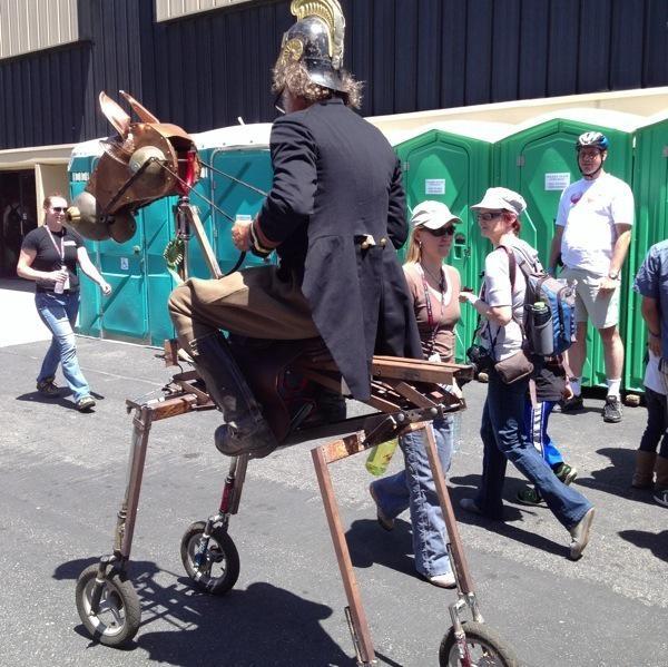 15 weirdest things on wheels at Maker Faire2013