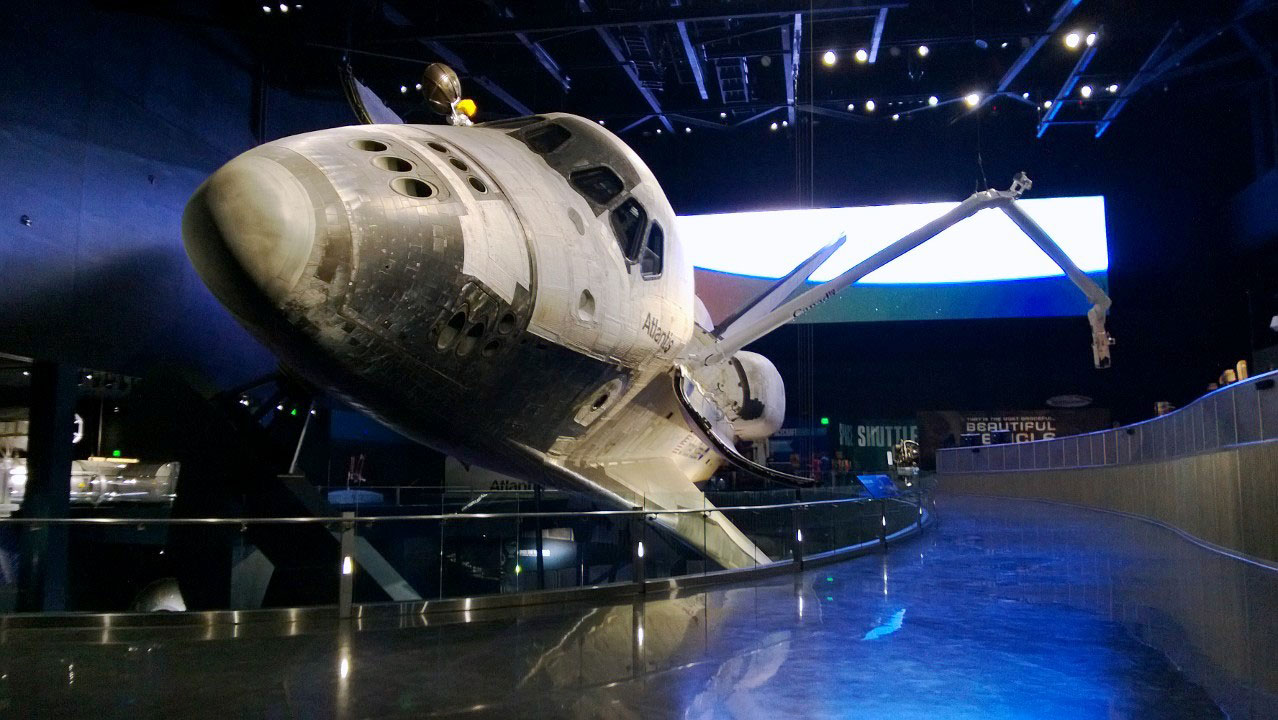 Daily Scinews Space Shuttle Atlantis Exhibit At Kennedy Space