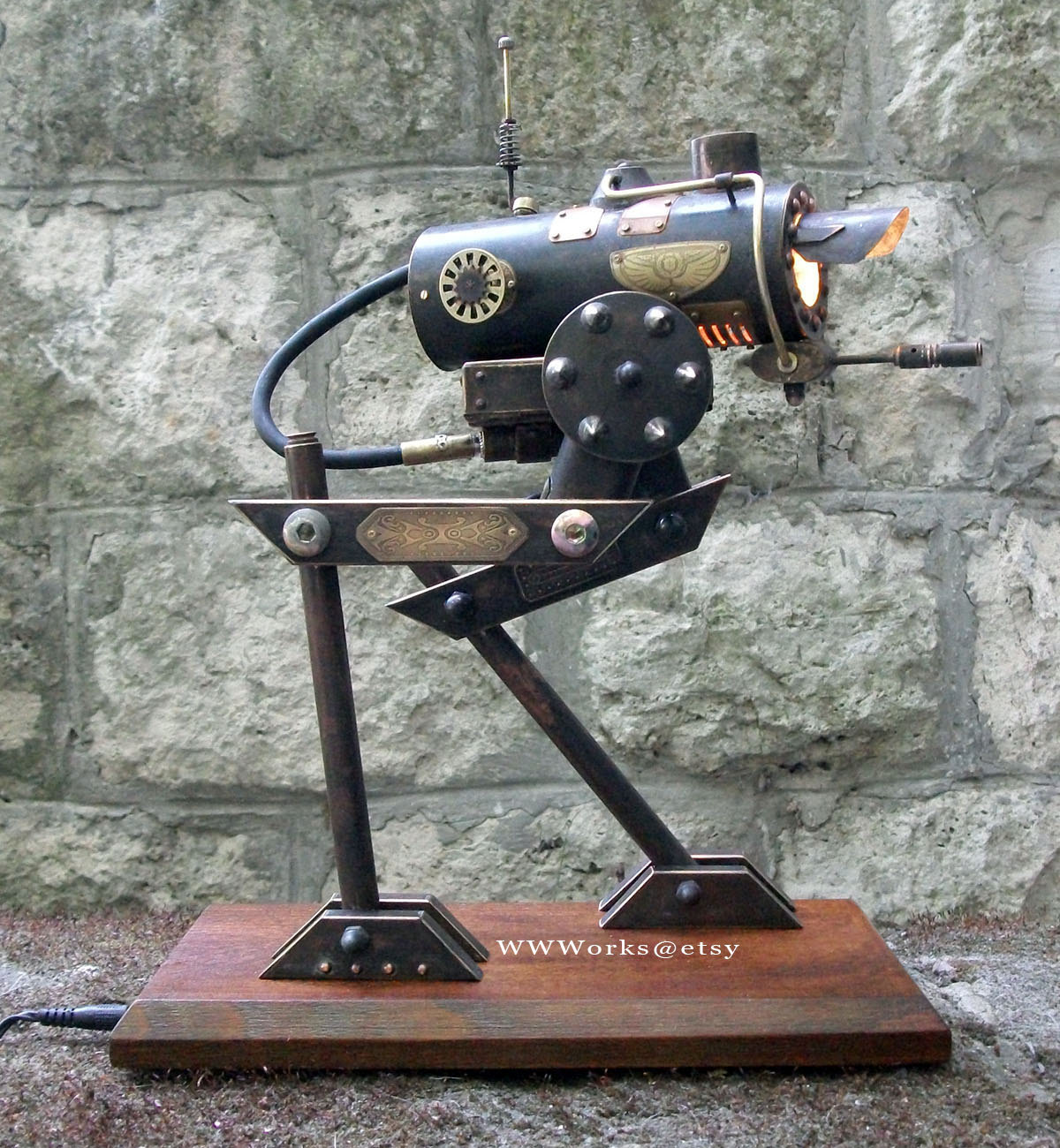 At St Steampunk Desk Lamp Boing Boing