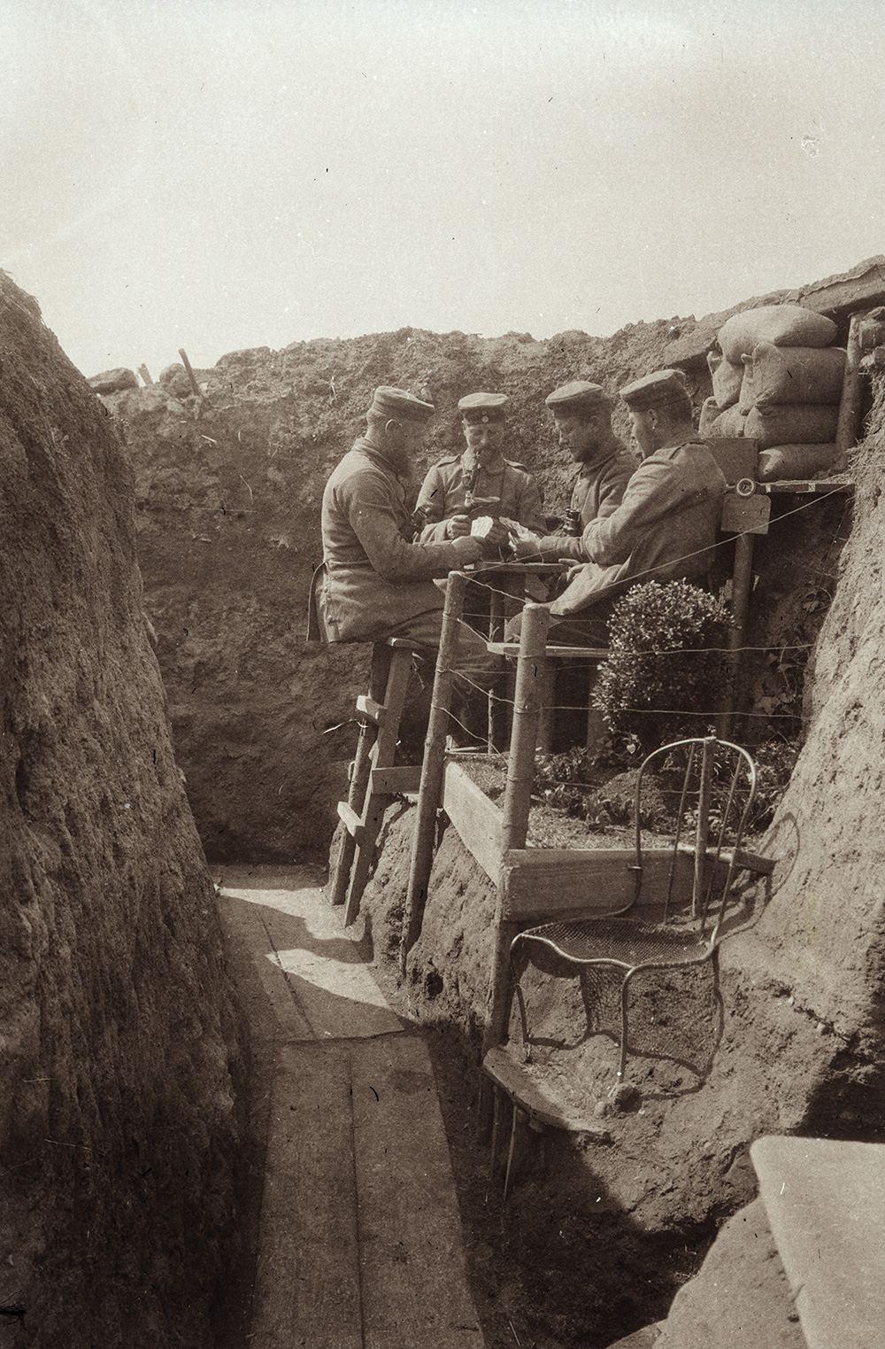 Unseen World War I photos: German Trenches / Boing Boing