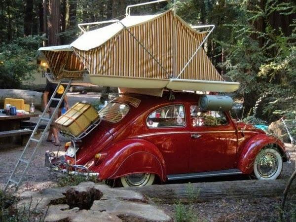 vw beetle  rooftop camper boing boing