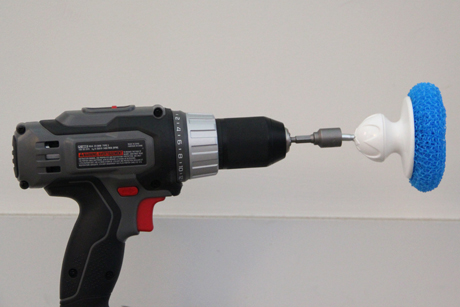HOWTO Make A Bathtub Cleaning Scrub Bit For Your Cordless Drill / Boing  Boing