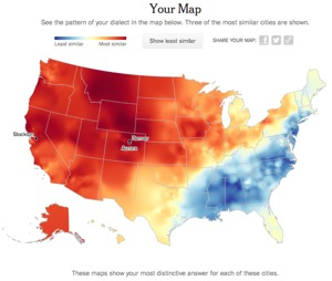 NY Times Vocabulary Quiz Determines Where You Are From Boing Boing - Pronunciation of our us map