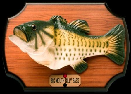 Big mouth billy bass animatronic fish frightens away for Big mouth fish