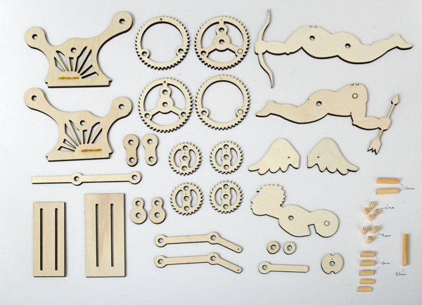 Howto Make A Laser Cut Cupid Automata Boing Boing