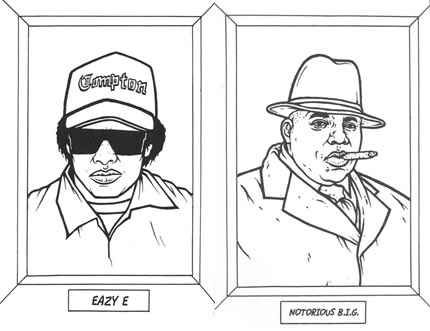 Gangsta Rap Coloring Book Boing