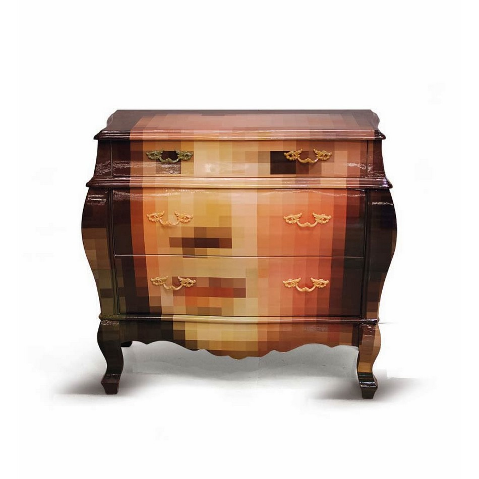 Pixel Art On Classic Furniture Boing Boing