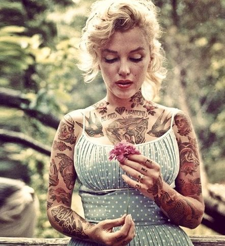 Iconic film/TV characters 'shooped with tattoos