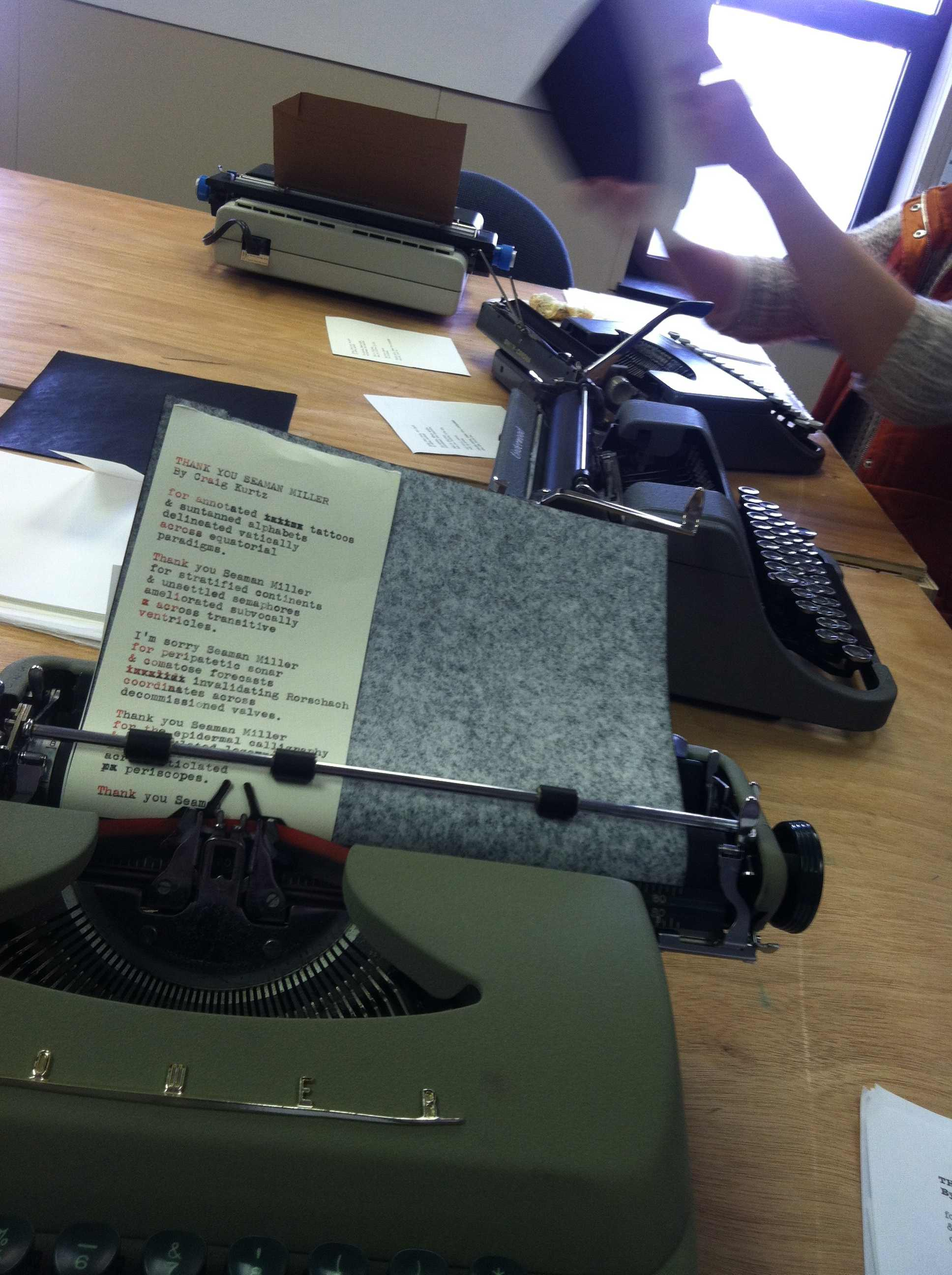 Harlequin Creature: a zine where every copy is individually hand-typed by volunteers