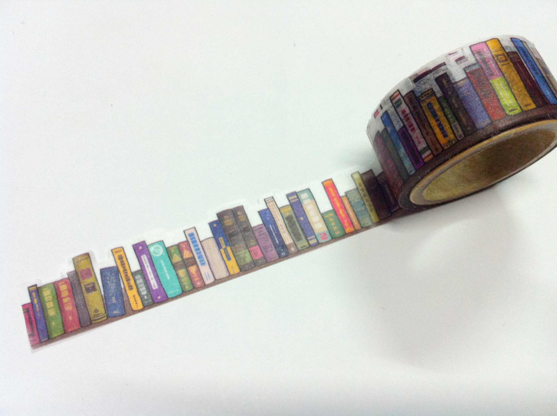 bookshelf masking tape boing boing. Black Bedroom Furniture Sets. Home Design Ideas