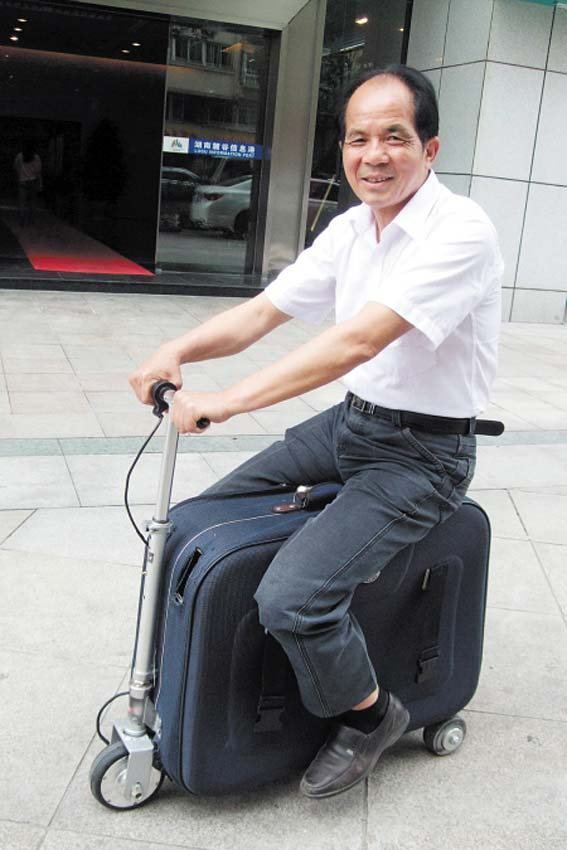 Farmer in China invents the suitcasemobile