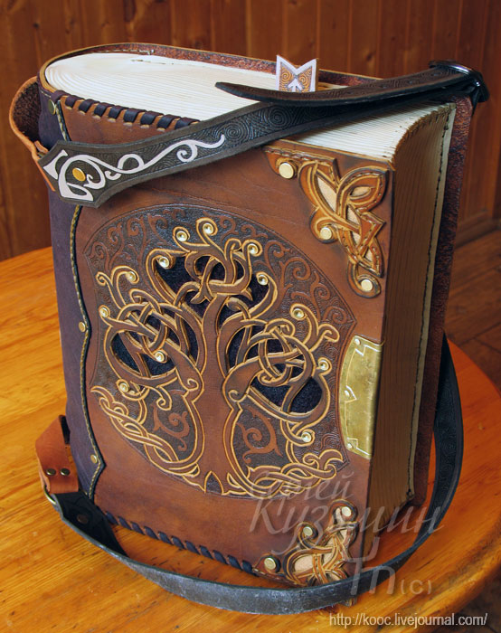 How To Make A Leather Book Cover : Astounding steampunk leatherwork bags and books boing