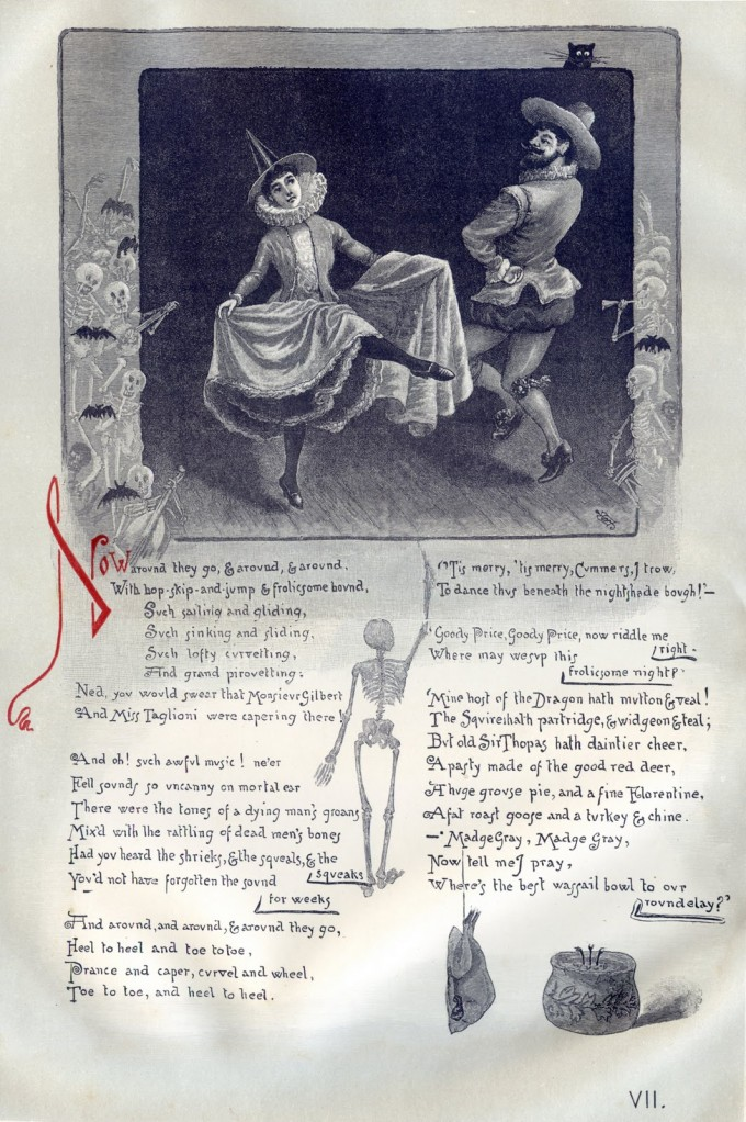 the witches frolic 18th 19th century illustrated book on