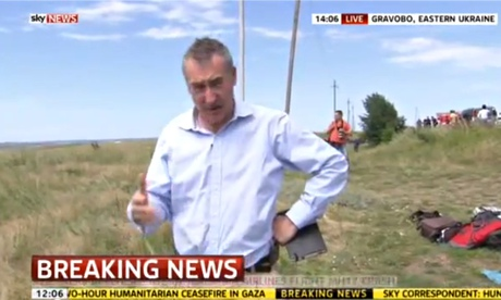 Sky News reporter Colin Brazier reports from the crash scene