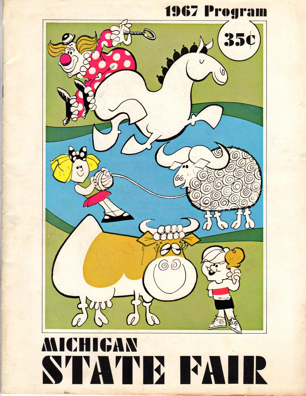 Michigan State Fair program book,1967