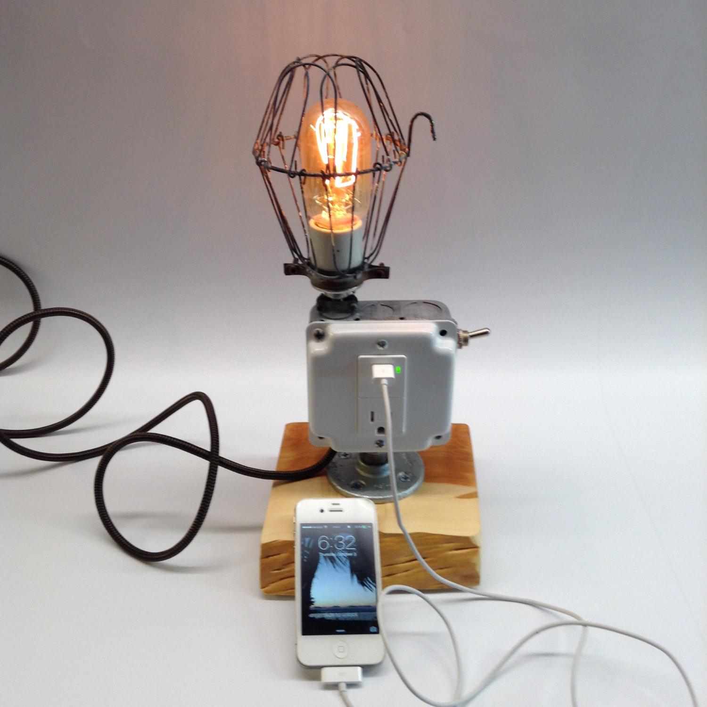 Brutal Primitive Lamp Charging Station Boing Boing