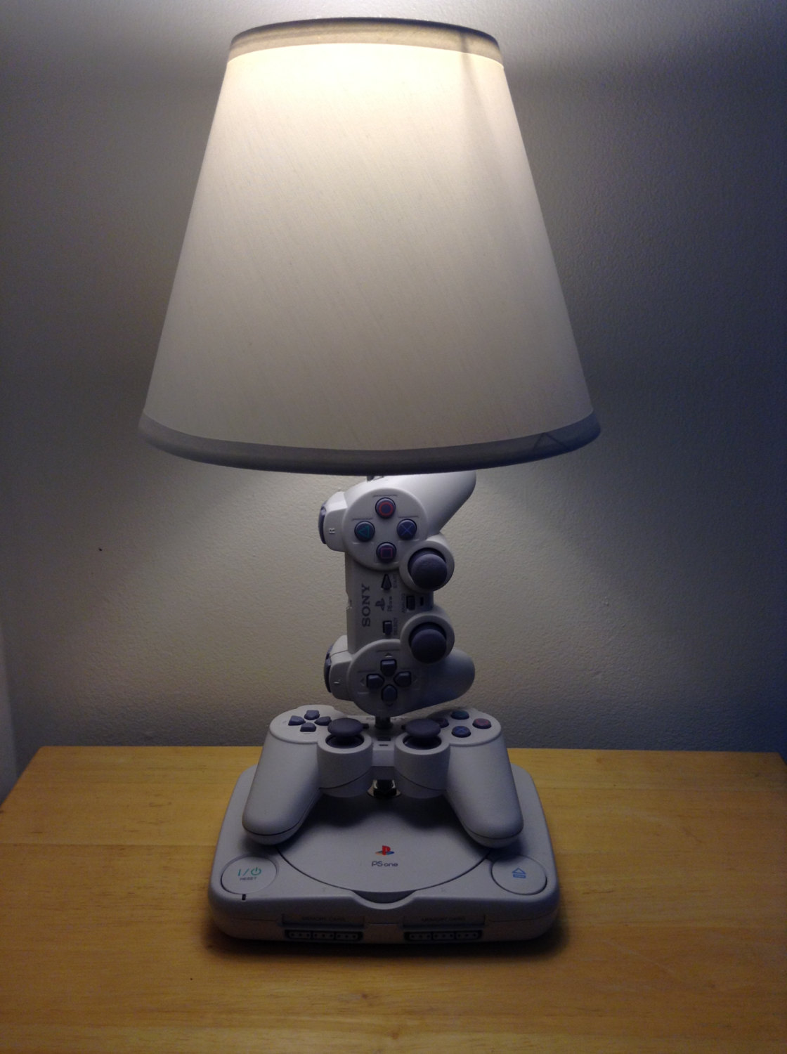 Lamps made from old game consoles, controllers and ...