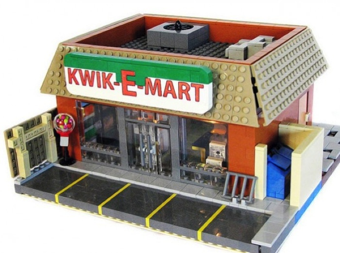The Simpsons' Springfield, USA in Lego