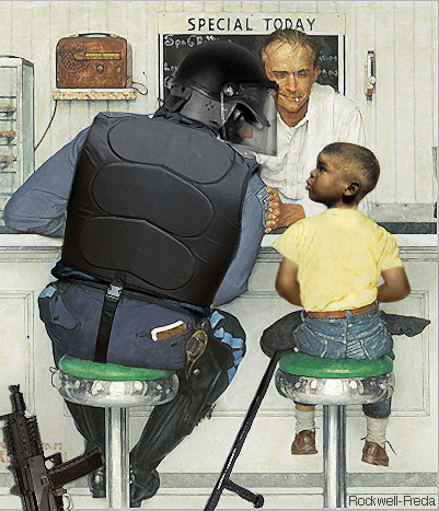 norman rockwell does ferguson by illustrator anthony
