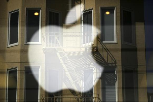 An Apple logo at a retail location in San Francisco, 2014. REUTERS
