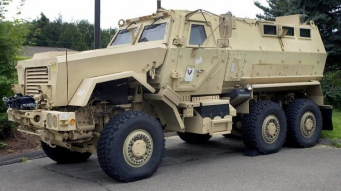 L.A. Unified School District police received a Mine-Resistant Ambush Protected vehicle (MRAP) like this one through a federal program. (LA Times)