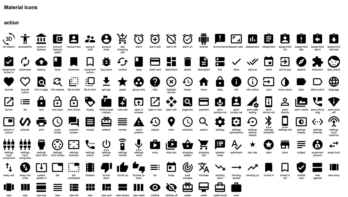Google releases set of beautiful, freely usableicons