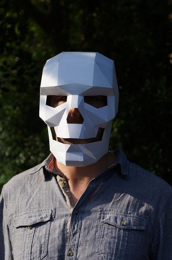 Polygon paper skull mask - Boing Boing