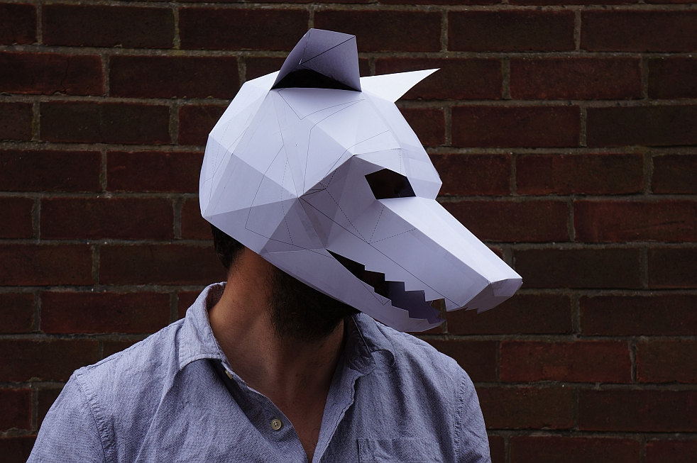 Объемные маски своими руками из бумаги