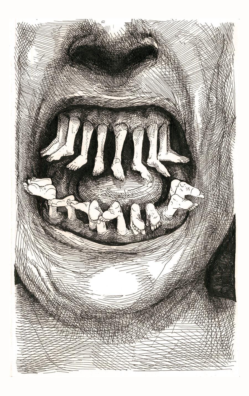 Dark drawings by Kristofer Porter - Boing Boing