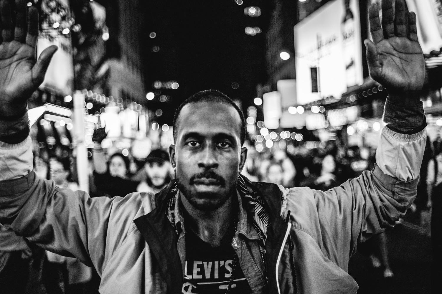 Photo gallery of Ferguson demonstrators in NYC