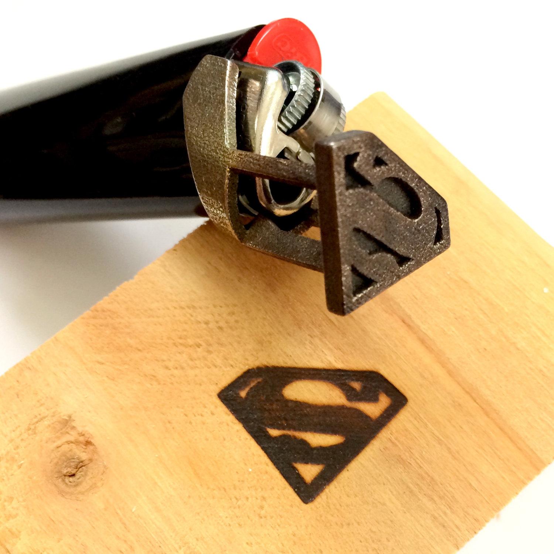 Superman branding iron / Boing Boing