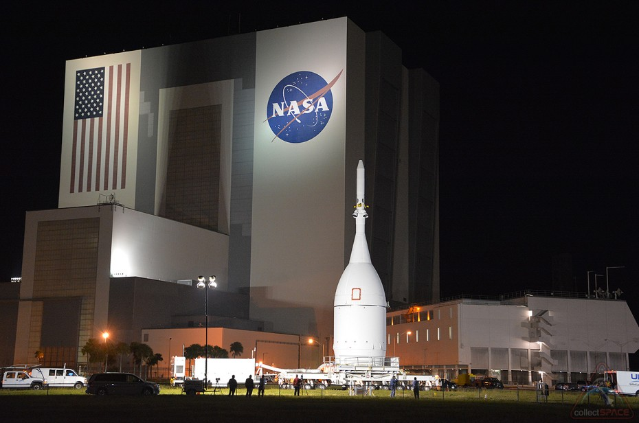 """Orion spacecraft arrives at NASA Kennedy, """"First step on journey to Mars"""""""