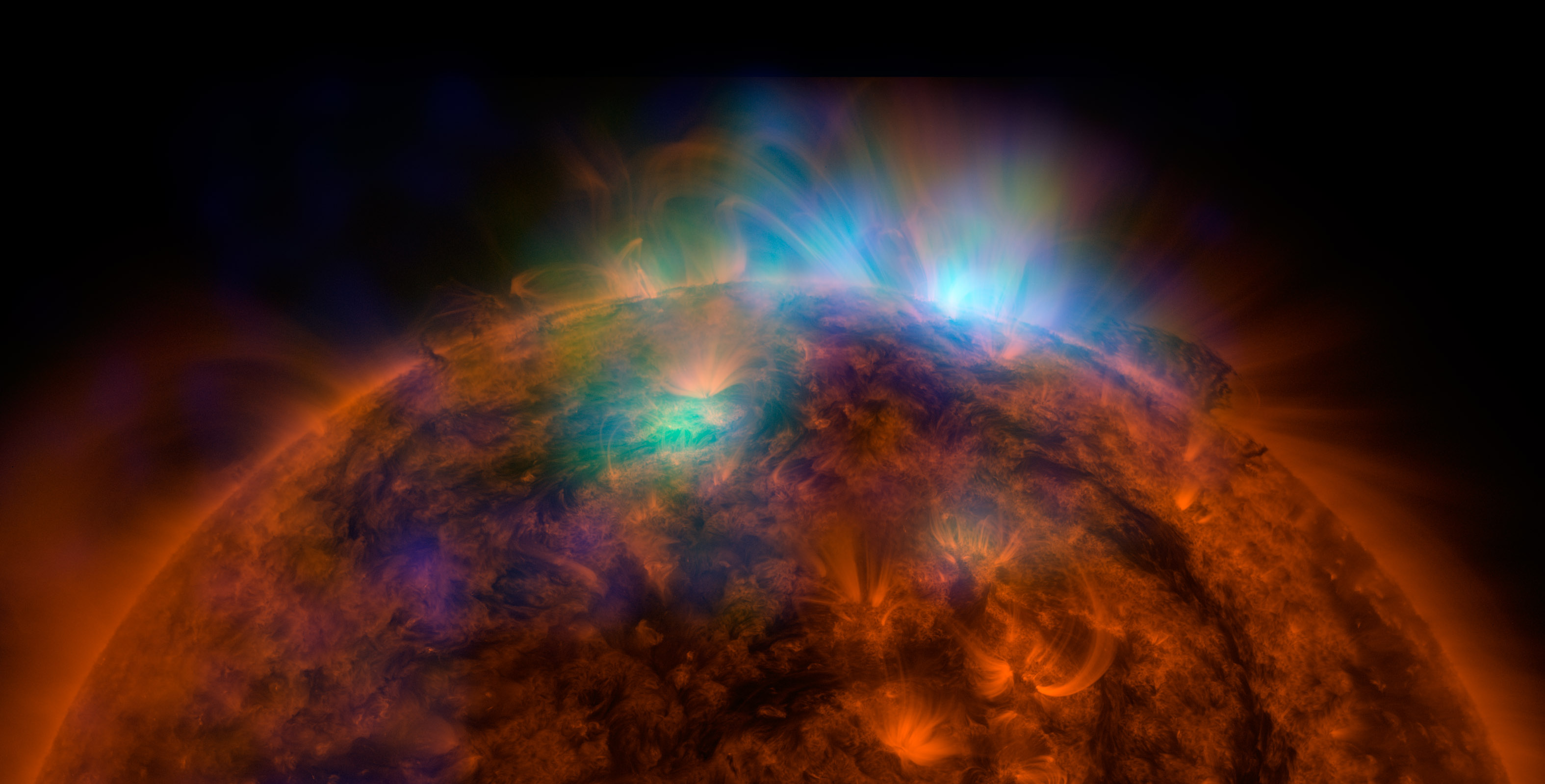 An amazing first image of the sun from NASA's NuSTAR, Nuclear Spectroscopic Telescope Array