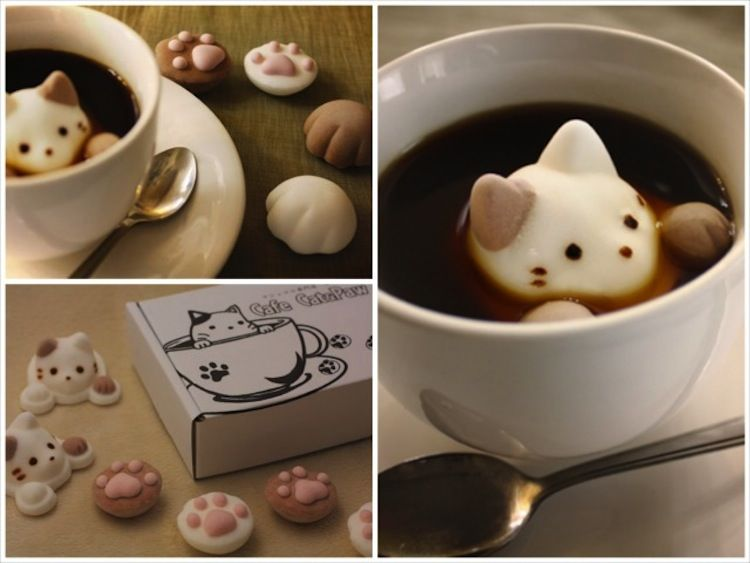 Kitten Shaped Marshmallows Boing Boing